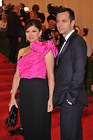 Maria Bartiromo at the 'Schiaparelli And Prada: Impossible Conversations' Costume Institute Gala at the Metropolitan Museum of Art on May 7, 2012 in New York City. ©mpi03/MediaPunch Inc.