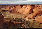 Canyon de Chelly from Sliding House Overlook, Canyon de Chelly National Monument, Navajo Nation, Chinle, Arizona
