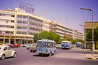 Kuwait October 1966. Fahad as-Salem Street, a Main Shopping Street in Downtown Kuwait.
