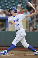 Omaha Storm Chasers outfielder Will Myers #8 take a swing during the game against the Reno Aces at Werner Park on August 3, 2012 in Omaha, Nebraska.(Dennis Hubbard/Four Seam Images)