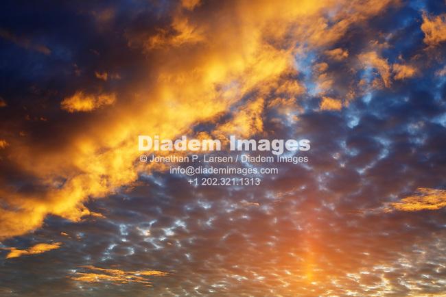 Sunset clouds - Northern Minnesota, USA.