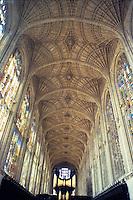 Cambridge: King's Chapel, fan vaulting. Great Vault--John Wastell, Master Mason. Photo '82.