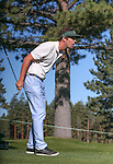 Actor David Walton watches his shot in the final round of the American Century Championship at Edgewood Tahoe Golf Course in Stateline, Nev., on Sunday, July 19, 2015. <br /> Photo by Cathleen Allison