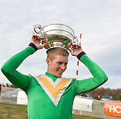 Crown him. Darren Nagle wears the Pennsylvania Hunt Cup trophy proudly.