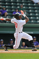 Photo of the Mercer Bears in a SoCon Tournament game against the Furman Paladins on Thursday, May 26, 2016, at Fluor Field at the West End in Greenville, South Carolina. Mercer won, 6-1. (Tom Priddy/Four Seam Images)