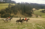 The Vale of White Horse an English premier hunt based in Wiltshire. Foxhunting Fox hunting with hounds. 1980s