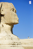 Egypt, Giza, Sphinx, side view (Licence this image exclusively with Getty: http://www.gettyimages.com/detail/200339708-001 )