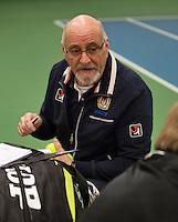 Rotterdam, The Netherlands, 07.03.2014. NOJK ,National Indoor Juniors Championships of 2014, Umpire<br /> Photo:Tennisimages/Henk Koster