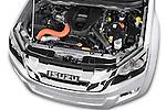 Car Stock 2015 Isuzu D-Max LSX 4 Door Pickup 2WD Engine high angle detail view