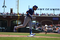 SAN FRANCISCO, CA - JULY 24:  Kris Bryant #17 of the Chicago Cubs runs the bases after hitting a home run against the San Francisco Giants during the game at Oracle Park on Wednesday, July 24, 2019 in San Francisco, California. (Photo by Brad Mangin)