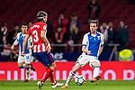 Javier Eraso Goni (R) of CD Leganes competes for the ball with Filipe Luis of Atletico de Madrid during the La Liga 2017-18 match between Atletico de Madrid and CD Leganes at Wanda Metropolitano on February 28 2018 in Madrid, Spain. Photo by Diego Souto / Power Sport Images