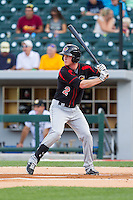 James Beresford (2) of the Rochester Red Wings at bat against the Charlotte Knights at BB&T Ballpark on June 5, 2014 in Charlotte, North Carolina.  The Knights defeated the Red Wings 7-6.  (Brian Westerholt/Four Seam Images)