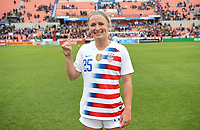Houston, TX - Sunday April 8, 2018: Hailie Mace during an International friendly match versus the women's National teams of the United States (USA) and Mexico (MEX) at BBVA Compass Stadium.