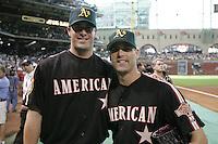 Mark Mulder and Tim Hudson. Baseball: 2004 All Star Game Home Run Derby. Houston, TX 7/8/2004 MANDATORY CREDIT: Brad Mangin