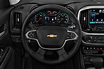 Car pictures of steering wheel view of a 2017 Chevrolet Colorado ZR2 Crew 4 Door Pick Up