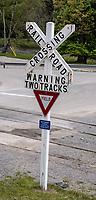 Cass, West Virginia. Railroad Crossing.