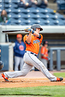 Bowling Green Hot Rods catcher Chris Betts (26) follows through on his swing against the West Michigan Whitecaps on May 21, 2019 at Fifth Third Ballpark in Grand Rapids, Michigan. The Whitecaps defeated the Hot Rods 4-3.  (Andrew Woolley/Four Seam Images)