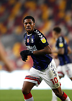 7th November 2020; Brentford Community Stadium, London, England; English Football League Championship Football, Brentford FC versus Middlesbrough; Chuba Akpom of Middlesbrough