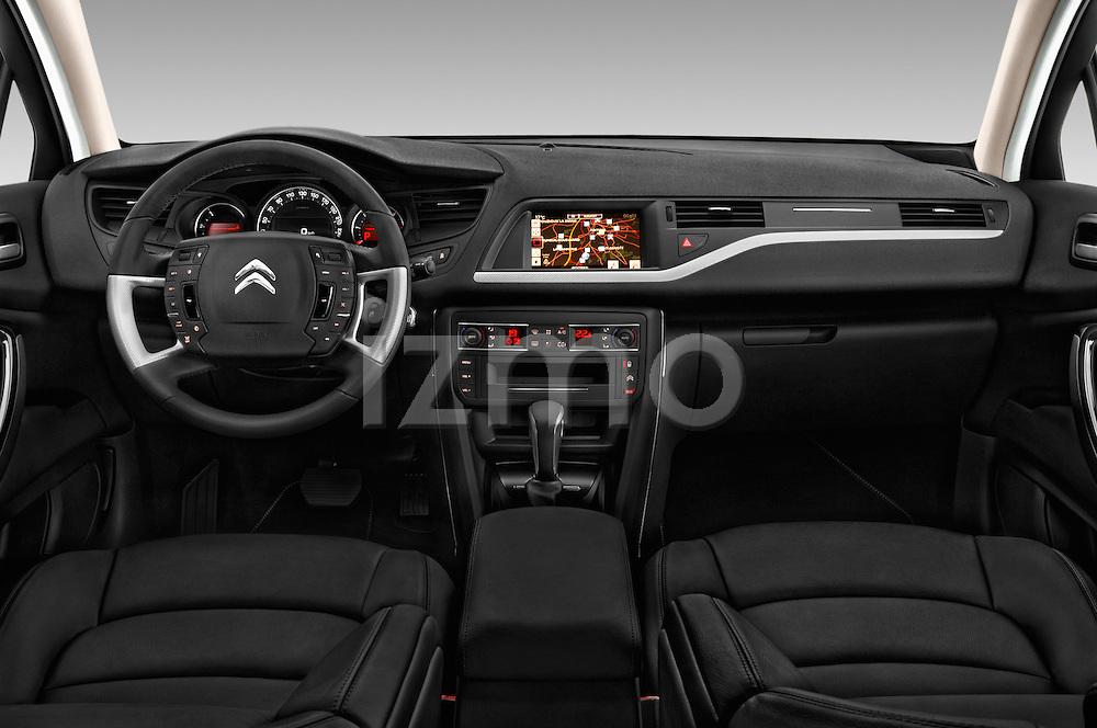 Stock photo of straight dashboard view of 2016 Citroen C5-Tourer Hydractive-Exclusive 5 Door wagon Dashboard