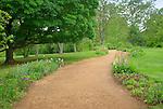 Monticello. Thomas Jefferson estate garden. Garden path.