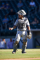 Surprise Saguaros Jose Trevino (13), of the Texas Rangers organization, during a game against the Mesa Solar Sox on October 14, 2016 at Sloan Park in Mesa, Arizona.  Mesa defeated Surprise 10-4.  (Mike Janes/Four Seam Images)