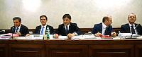 Il tavolo della Giunta, con i senatore Azzolini (primo da sinistra) ed il Presidente, Dario Stefano (terzo da sinistra)<br /> Roma 18-06-2015 Senato, Sant'Ivo alla Sapienza. Giunta per la Immunita' Parlamentari. Audizione del Senatore Azzolini in merito al crac della Casa Divina Provvidenza.<br /> Photo Samantha Zucchi Insidefoto