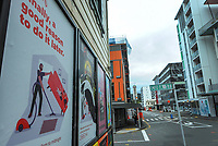 Webb St at 9am during Level 4 lockdown for the COVID-19 pandemic in Wellington, New Zealand on Monday, 23 August 2021.