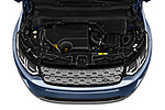 Car stock 2020 Land Rover Discovery Sport S 5 Door SUV engine high angle detail view