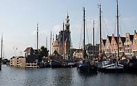 Nederland - Hoorn- 2020.      De Hoofdtoren en de Veermanskade.   Foto ANP / HH / Berlinda van Dam
