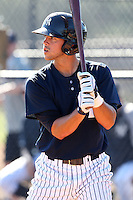 New York Yankees minor league outfielder Taylor Grote (33) vs. the Pittsburgh Pirates in an Instructional League game at the New York Yankees Minor League Complex in Tampa, Florida;  October 8, 2010.  Photo By Mike Janes/Four Seam Images