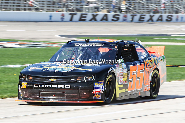 Nationwide Series driver Jamie Dick (55) in action during the NASCAR Nationwide Series qualifying at Texas Motor Speedway in Fort Worth,Texas.
