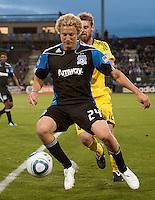SANTA CLARA, CA -- May 14th, 2011: San Jose Earthquakes defeated the Columbus Crew 3-0 at Buck Shaw Stadium in Santa Clara on May 14th, 2011.