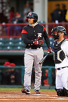 Richmond Flying Squirrels third baseman Myles Schroder (16) at bat during a game against the Erie Seawolves on May 19, 2015 at Jerry Uht Park in Erie, Pennsylvania.  Richmond defeated Erie 8-5.  (Mike Janes/Four Seam Images)