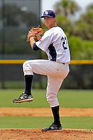 Matthew Swilley (22) Pitcher for the GCL Rays delivers a pitch during a game against the GCL Red sox on July 15th, 2010 at Charlotte Sports Park in Port Charlotte Florida. The GCL Rays are the the Gulf Coast Rookie League affiliate of the Tampa Bay Rays. Photo by: Mark LoMoglio/Four Seam Images