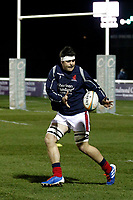 Lewis Wynne of London Scottish warms up during the Greene King IPA Championship match between London Scottish Football Club and Nottingham Rugby at Richmond Athletic Ground, Richmond, United Kingdom on 7 February 2020. Photo by Carlton Myrie.