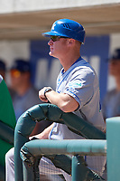 Lexington Legends manager Brooks Conrad (26) during a South Atlantic League game against the Augusta GreenJackets on April 30, 2019 at SRP Park in Augusta, Georgia.  Augusta defeated Lexington 5-1.  (Mike Janes/Four Seam Images)