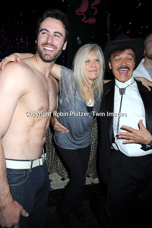 actor Matthew Pender, actress Ilene Kristen and Randy Jones at Porno Bingo at Pieces on April 28, 2010 in New York City. The event was sponsored by WeLoveSoaps.com and benefitted The American Foundation for Suicide Prevention.