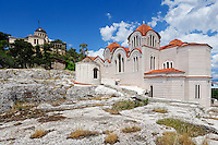 The impressive church of Saint Marina on the hill of the Nymphs in Athens, Greece