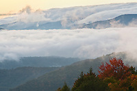 Breaking autumn storm, as viewed from Unaka Mountain, Cherokee National Forest