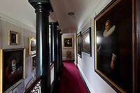 Early 17th century portraits line the walls of this gallery corridor