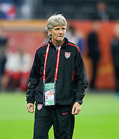 Pia Sundhage.  Japan won the FIFA Women's World Cup on penalty kicks after tying the United States, 2-2, in extra time at FIFA Women's World Cup Stadium in Frankfurt Germany.
