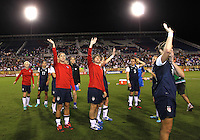 BOCA RATON, FL - DECEMBER 15, 2012: Players of the USA WNT at the end of an international friendly match against China at FAU Stadium, in Boca Raton, Florida, on Saturday, December 15, 2012. USA won 4-1.
