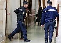 PROCES DES AUTEURS DU VOL DES 52 KG DE COCAINE DANS LES LOCAUX DE LA POLICE JUDICIAIRE DE PARIS. SUR LA PHOTO, FARID K., COMPLICE DU POLICIER JONATHAN GUYOT, PRINCIPAL ACCUSE DANS L'AFFAIRE.
