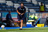 Huddersfield Town manager Danny Cowley shouts instructions to his team from the technical area<br /> <br /> Photographer Alex Dodd/CameraSport<br /> <br /> The EFL Sky Bet Championship - Huddersfield Town v Wigan Athletic - Saturday 20th June 2020 - John Smith's Stadium - Huddersfield <br /> <br /> World Copyright © 2020 CameraSport. All rights reserved. 43 Linden Ave. Countesthorpe. Leicester. England. LE8 5PG - Tel: +44 (0) 116 277 4147 - admin@camerasport.com - www.camerasport.com