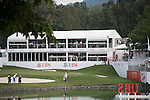 The UBS Pavilion during Hong Kong Open golf tournament at the Fanling golf course on 22 October 2015 in Hong Kong, China. Photo by Xaume Olleros / Power Sport Images