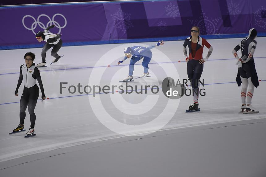 OLYMPIC GAMES: PYEONGCHANG: 18-02-2018, Gangneung Oval, Long Track, 500m Ladies, Sang-Hwa Lee (KOR), ©photo Martin de Jong