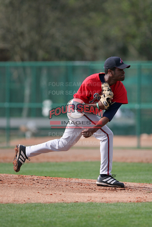 Atlanta Braves minor leaguer Nelson Payano during Spring Training at Disney's Wide World of Sports on March 14, 2007 in Orlando, Florida.  (Mike Janes/Four Seam Images)