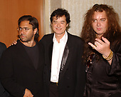 FORT LAUDERDALE FL - MAY 08: Al Di Meola, Jimmy Page and Yngwie Malmsteen attend the Brazilian children's charity event held at the Fort Lauderdale Marriott on May 8, 2002 in Fort Lauderdale, Florida. : Credit Larry Marano © 2002