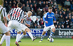 St Mirren v St Johnstone.....02.02.13      Scottish Cup.Michael Doughty is closed down by Jim Goodwin.Picture by Graeme Hart..Copyright Perthshire Picture Agency.Tel: 01738 623350  Mobile: 07990 594431
