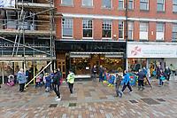 Pictured: Prince's Cafe in Taff Street, Pontypridd. Friday 21 February 2020<br /> Re: HRH Prince Charles visits Pontypridd in south Wales, UK.